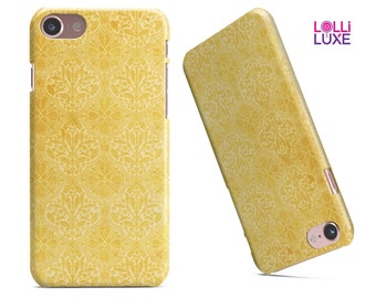Yellow Vertical Damask Pattern - LolliLuxe Snapit Case for the iPhone 7 or 7 Plus | 6/6 or 6/6s Plus | 5/5s/SE | Galaxy & More!
