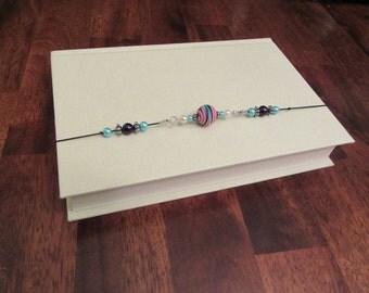 Beaded Bookmark, Bookmark, Stretchy Bookmark, Bookmark Bracelet, Rainbow Bead Stretchy Bookmark