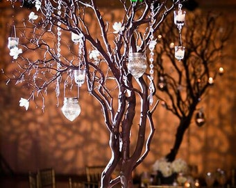 "set of 2 32"" manzanita branches 100% natural fresh trimmed for DIY wedding Centerpieces"