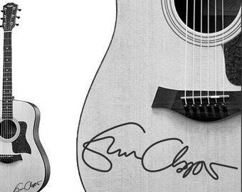Eric Clapton Handwriting guitar decal