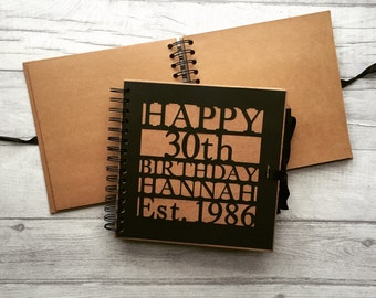 Personalised Happy Birthday Party Guest Book / Memory book / photo album / gift / milestone