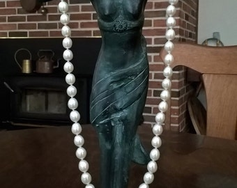 Classic White Freshwater Cultured Pearl Strand Necklace