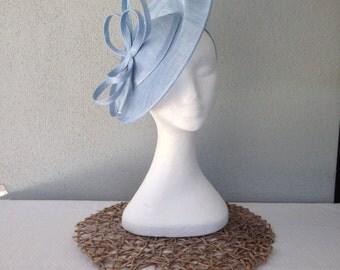 Ladies pale blue headband fascinator