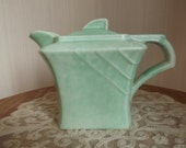 "REDUCED! George Clews Art Deco ""Perfecto"" Hot Water Pot/Teapot, Green Teapot, 1930s Teapot, Afternoon Tea, Tea Party, Vintage Teapot"