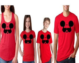 Family Disney Shirts for the Whole Family Mickey Mouse with Sunglasses Boys Girls Women and Mens Tops Perfect for Disney World  Disneyland