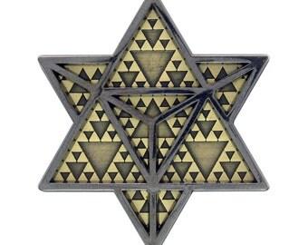 Infinite Possibilities Lapel Pin - Hat Pin - Enamel Pin - Sacred Geometry Pin ( Black )