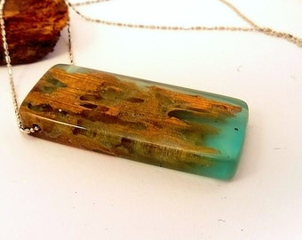 Resin necklace epoxy resin jewelry wood and resin necklace reclaimed wood necklace wood and resin jewelry resin pendant womens gift
