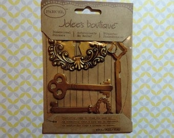 Lock and key stickers by Jolee's boutique