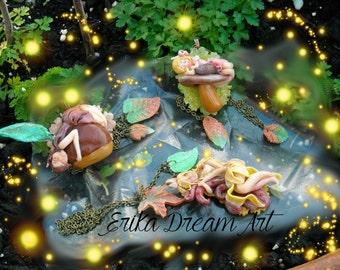 fairy woods necklace  - fata dei boschi collana