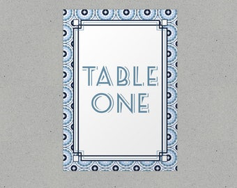 Retro Wedding Table Names/ Number Personalised