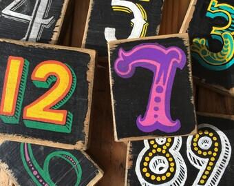 Handmade Custom Number Signs - House Numbers, Table Numbers, Address