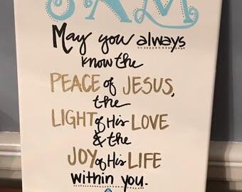 First Communion Quote Board