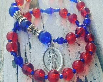 Royal Red & Blue Divine Mercy Set
