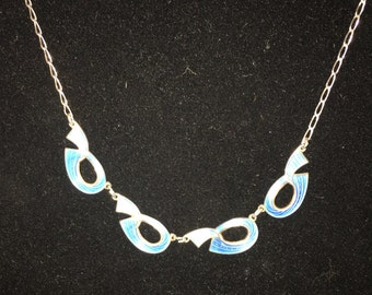 Ivar T. Holth Silver and Enamel Necklace