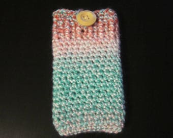 Phone Case/Cell Phone Sleeve/iPhone Case/Smart Phone Case/Crochet Sleeve/Rainbow Cell Phone Case/Samsung Case