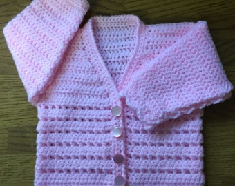 Printed DK Crochet Pattern For Baby/Child V Neck Cardigan Sizes Birth to 6 years (1003)