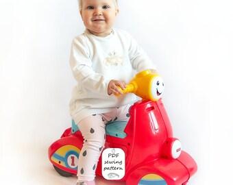 Baby leggings sewing pattern PDF download, baby sewing patterns, girls sewing patterns