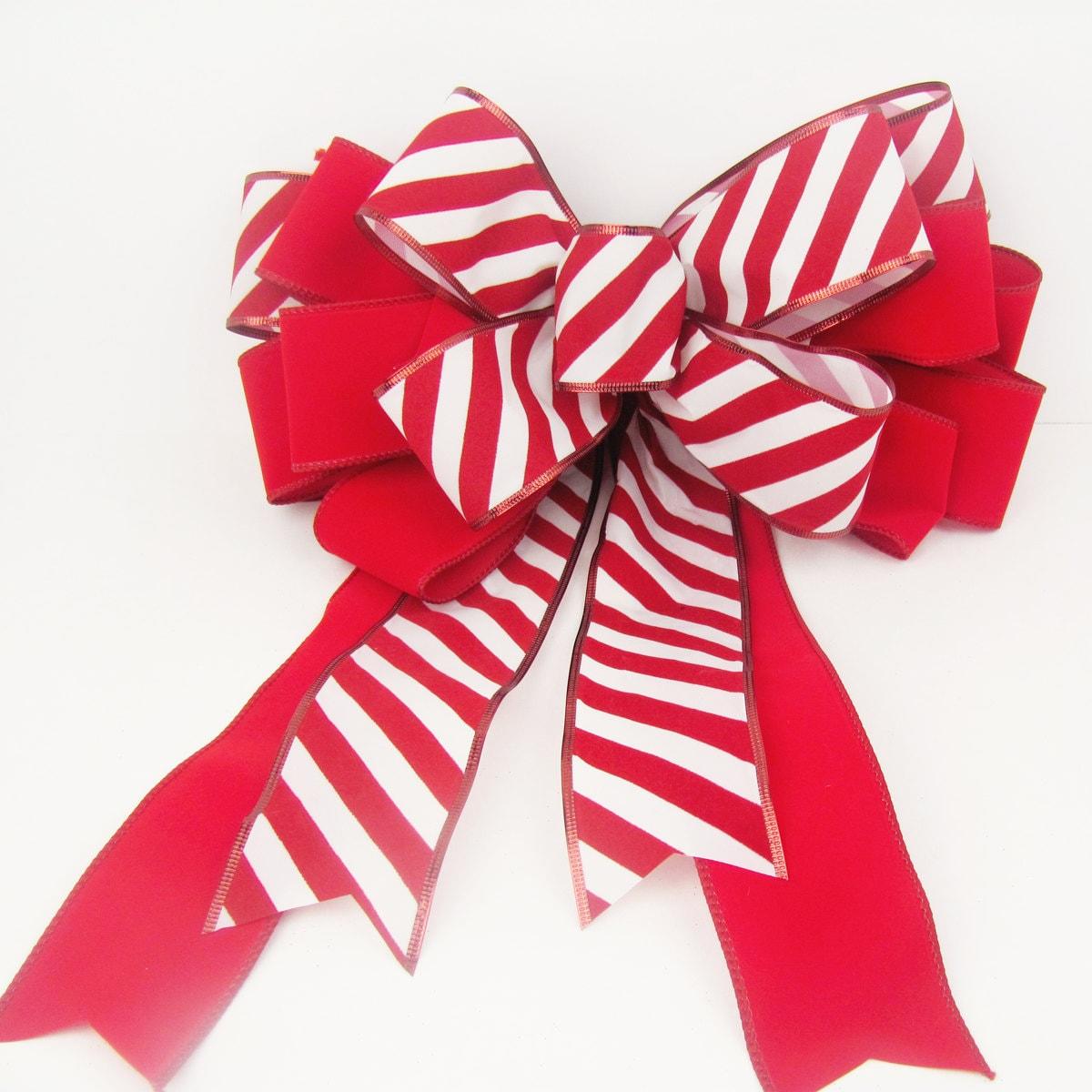 Christmas Wreath Bow Wreath Bow Christmas Bows Candy Cane
