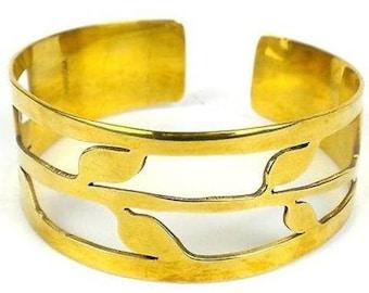 Open Leaf Cuff Bracelet