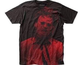 Texas Chainsaw Massacre Leatherface Soft 30/1 Men's Cotton Subway Tee (SUBTCM03) Black