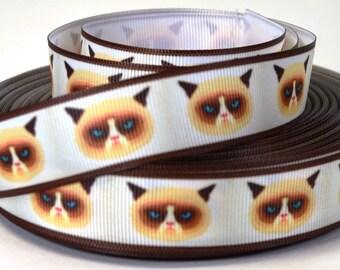 """Grumpy Cat - 7/8"""" Grosgrain Ribbon"""
