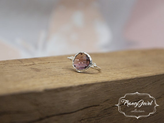 Coffee ring, romantic ring, silver ring, coffee crystal, unique ring, handmade ring, silver, made in Italy, not tarnish jewelry, for her