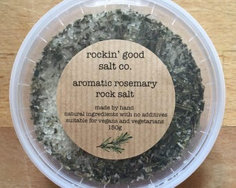 Rock Salt infused with Aromatic Rosemary 150g Pinch Pot