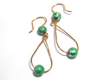 Copper Loop Earrings