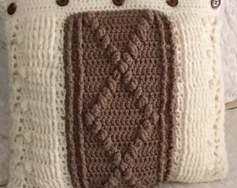 """Handmade crocheted pillow - 16""""x 16"""""""