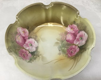 R S Germany hand painted bowl