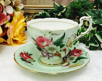 Double warranted Paragon teacup and saucer.