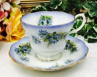Royal Albert Reflection Series teacup and saucer.