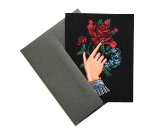 Victorian Hand of Friendship Premium Greeting Card Set
