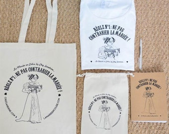 """I want PACK it all! """"The bride angry"""" / Tote bag, tank top, book & pen, large pouch"""