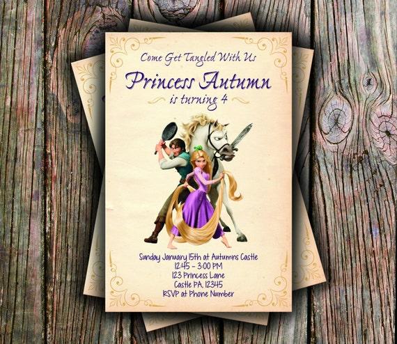 Disneys Tangled Birthday Invitation