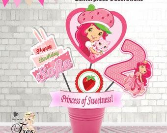 Strawberry Shortcake Invitation,Strawberry Shortcake Birthday Invitation,Strawberry Shortcake Party Supplies,Strawberry Shortcake,Strawberry
