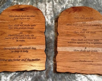 10 Commandments - Carved