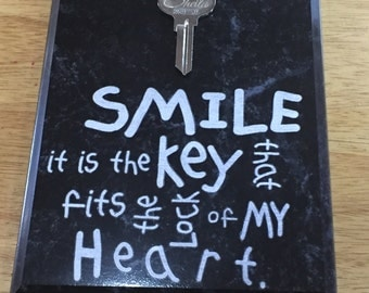 Personalized Engraved Key Plaque