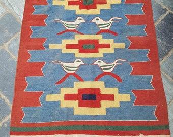 """Lovely Traditional Vintage Persian Kilm Wool 3'1""""x3'11 Oriental Rug Handmade Carpet Rugs"""