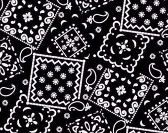 Bandana Fabric- Black Bandana Fabric