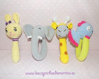 Crochet handmade rattles