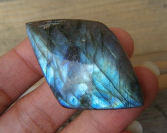 Top Notch Electric Blue Labradorite Cabochon // Polished, Blue Labradorite, Labradorite Gemstone, Jewelry Making, Wire Wrapping, Unique Gem