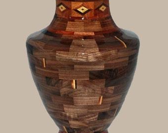 Classic Vase with Diamond Pattern