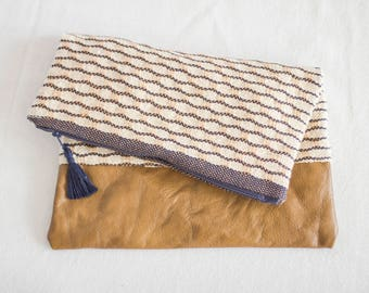 Hand Woven Foldover Clutch / Ipad Carrier