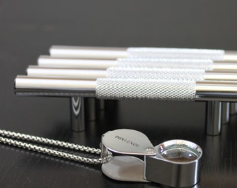 """Hamilton Bowes Polished Chrome Diamond Cut 3"""" Inch (76.2 mm) Center to Center 5-3/4"""" Overall Modern Steel Bar Pull Knurled"""