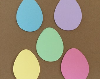 25 Easter Egg Die Cuts for Paper Craft Emellishments Card Making Set 7009