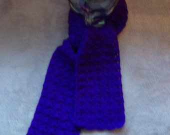 Crochet Purple Scarf