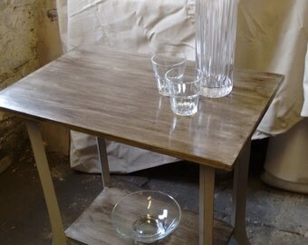 Chalk Painted Side Table.