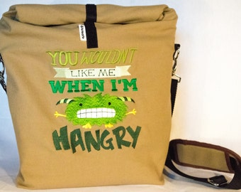 Cooler Lunchbag to go, size 6, embroidered