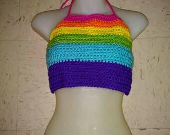 Neon Rainbow Halter